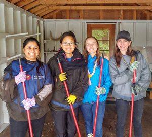 Volunteers at Camp Oochegeas