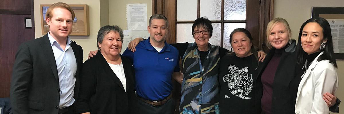 BMO's Dan Adams and Sean Murphy with the Thunder Woman Healing Lodge Board