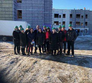 The construction site at OAHS