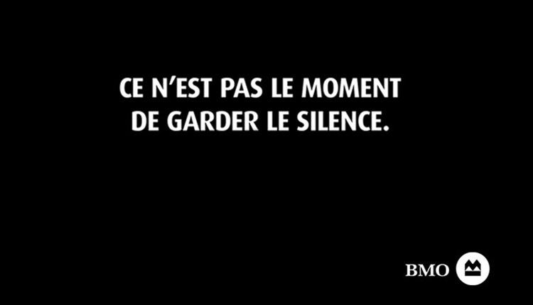 Ce n'est pas un moment de garder le silence
