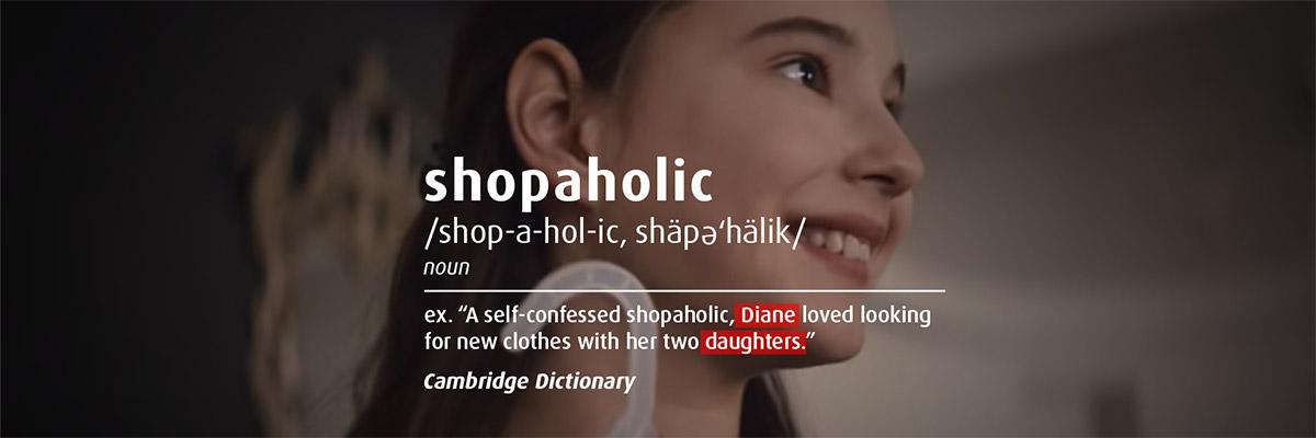 Shopaholic description ex:
