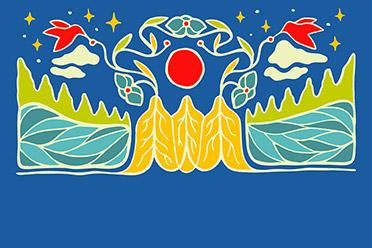 Indigenous artwork created by Mariah Meawasige
