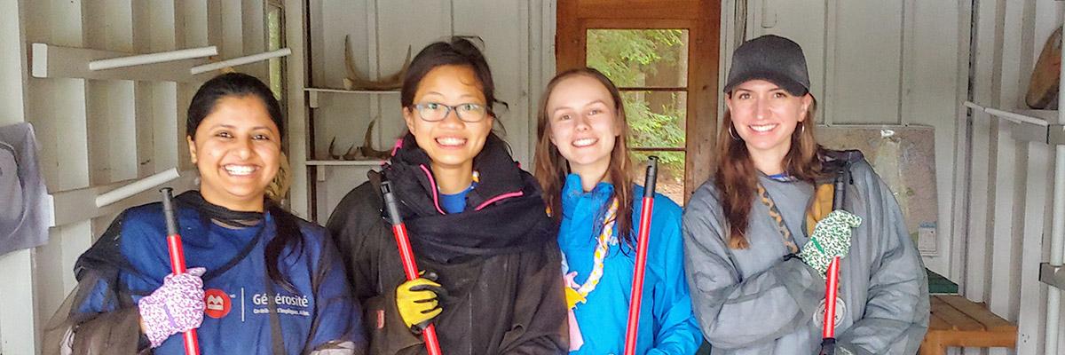 BMO volunteers at Camp Oochigeas