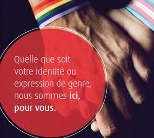 Quelle que soit votre identité ou expression de genre, nous sommes ici, pour vous.