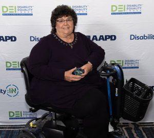 Brenda Pino with DEI award