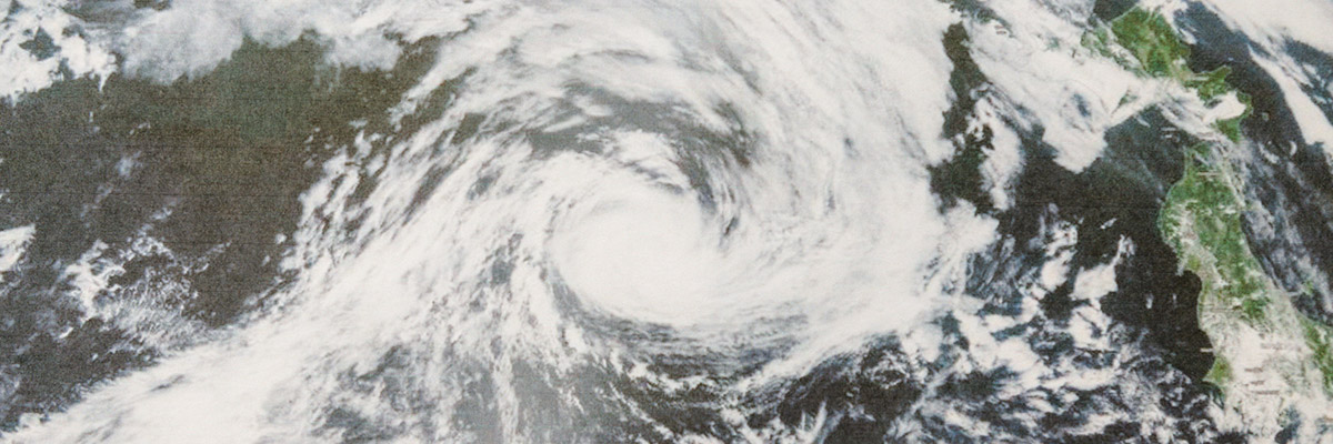 Satellite image of a brewing storm