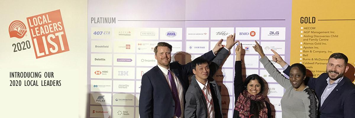 BMO employees after winning a United Way award