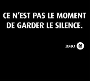 Ce n'est pas le moment de garder le silence.