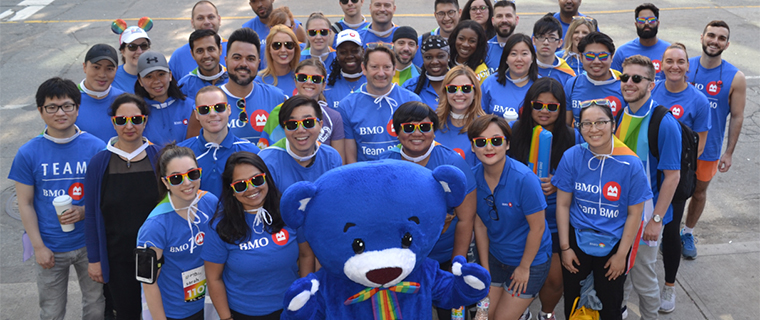 Employees wiith BMO the Bear